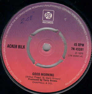 ACKER BILK , GOOD MORNING / SIPPING CIDER