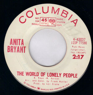 ANITA BRYANT, THE WORLD OF LONELY PEOPLE / ITS BETTER TO CRY TODAY - PROMO