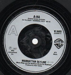 A-HA , MANHATTAN SKYLINE / WE'RE LOOKING FOR THE WHALES