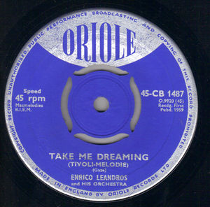 ENRICO LEANDROS, TAKE ME DREAMING / TRISTESSE DANCE (looks unplayed)