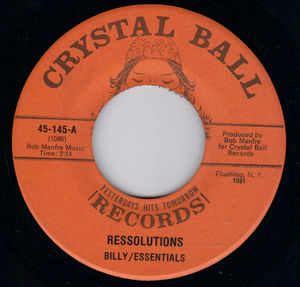 BILLY ESSENTIALS / 4 EVERS , RESSOLUTIONS / YOU'RE SO FINE