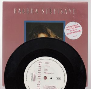 BARBRA STREISAND , WITH ONE LOOK / MEMORY - looks unplayed