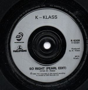 K-KLASS, SO RIGHT / REMIX EDIT