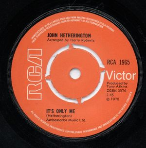 JOHN HETHERINGTON, ITS ONLY ME / DREAMBOAT AVENUE