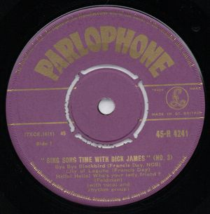 DICK JAMES, SING SONG TIME WITH DICK JAMES - NO 3 - EP