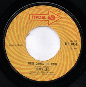 LEAPY LEE , HERE COMES THE RAIN / THREE LITTLE WORDS