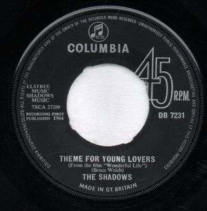 SHADOWS, THEME FOR YOUNG LOVERS / THIS HAMMER