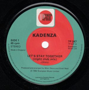 KADENZA, LETS STAY TOGETHER - night club nix / vocal mix