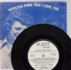 RICKY & SHERLIE YOUNG, WHOEVER FINDS THIS i LOVE YOU - EP (33rpm)