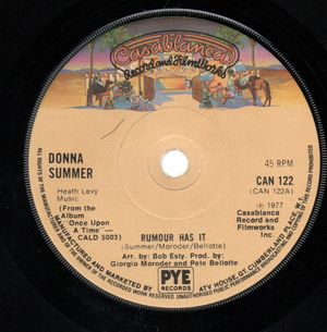 DONNA SUMMER , RUMOUR HAS IT / ONCE UPON A TIME