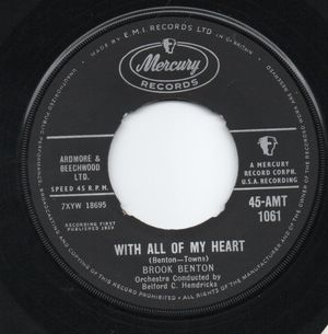 BROOK BENTON, WITH ALL MY HEART / THANK YOU PRETTY BABY