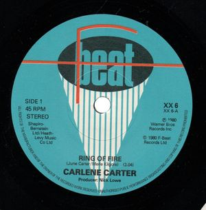 CARLENE CARTER, RING OF FIRE / THAT VERY FIRST KISS - looks unplayed