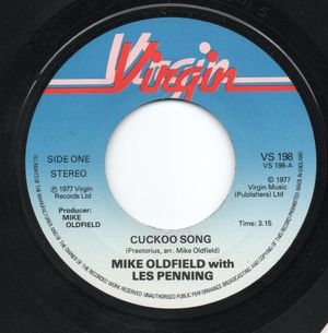 MIKE OLDFIELD with LES PENNING , CUCKOO SONG / PIPE TUNE