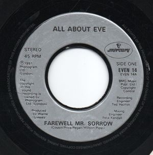 ALL ABOUT EVE, FAREWELL MR SORROW / ELIZABETH OF GLASS