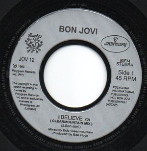 BON JOVI , I BELIEVE / LIVE VERSION