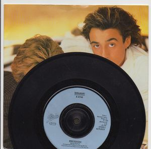 WHAM!, FREEDOM / INSTRUMENTAL - plastic label