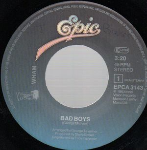 WHAM!, BAD BOYS / INSTRUMENTAL