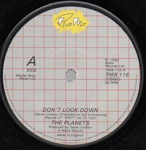 PLANETS, DONT LOOK DOWN / I WANNA TOUCH YOU - looks unplayed