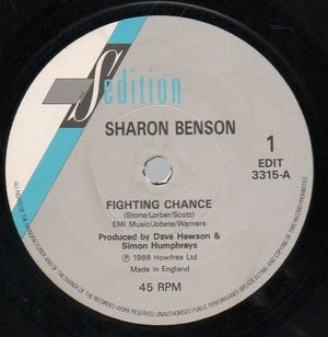SHARON BENSON, FIGHTING CHANCE / WHEN LOVES SO RIGHT