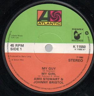AMII STEWART & JOHNNY BRISTOL, MY GUY MY GIRL / NOW