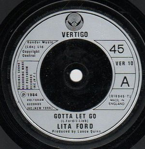 LITA FORD, GOTTA LET GO / RUN WITH THE S