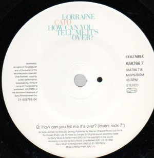LORRAINE CATO, HOW CAN YOU TELL ME ITS OVER / LOVERS ROCK MIX