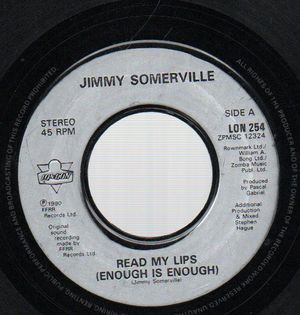 JIMMY SOMERVILLE, READ MY LIPS / AND YOU NEVER THOUGHT THIS COULD HAPPEN TO YOU
