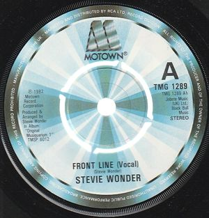 STEVIE WONDER , FRONT LINE (VOCAL) / (INSTRUMENTAL)