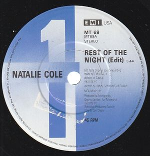 NATALIE COLE, REST OF THE NIGHT (EDIT) / SOMEONES ROCKIN MY DREAMBOAT