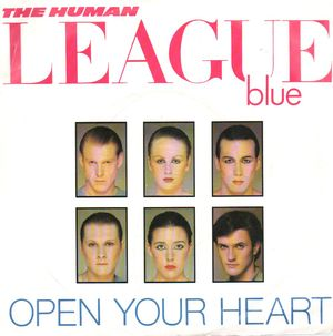 THE HUMAN LEAGUE, OPEN YOUR HEART / NON-STOP