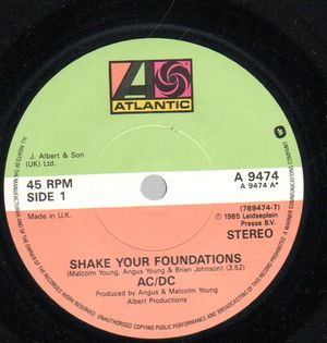 AC/DC, SHAKE YOUR FOUNDATIONS / STAND UP