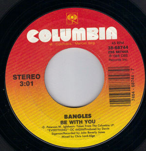 BANGLES , BE WITH YOU / LET IT GO