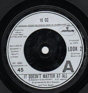 10CC, IT DOESN'T MATTER AT ALL / FROM ROCHDALE TO OCHO RIOS